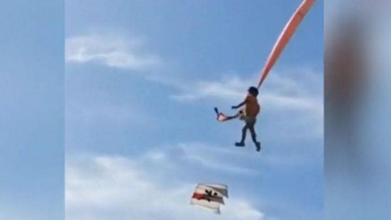 Fillette de 3 ans traînée par un cerf-volant dans le ciel